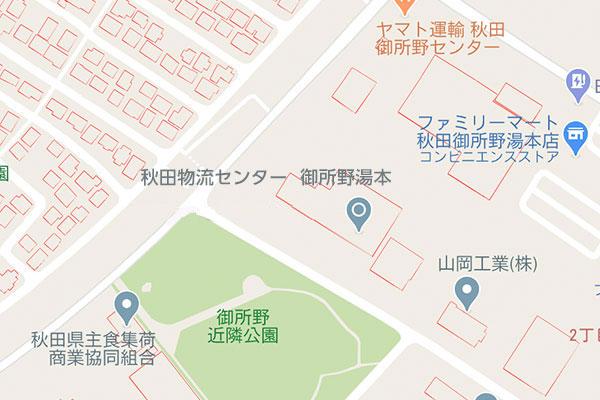 秋田の好立地に3拠点保有イメージ